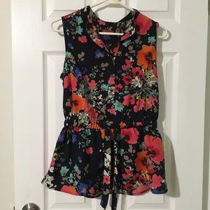 Merona colorful floral blouse